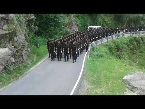 Indian army garhwal rifles training session at Lansdowne..