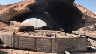 Крытые ангары российской авиабазы Шайрат после удара Томагавками