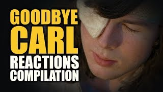 The Walking Dead GOODBYE CARL Reactions Compilation
