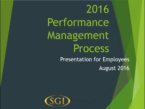SGI Global - Employee Performance Review Training