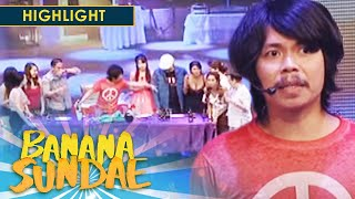 Banana Sundae: Bernie finds it hard to leave his friend's birthday party