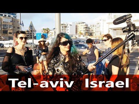 Walking On The Beach Of Tel Aviv Israel, Video Walk In Tel Aviv