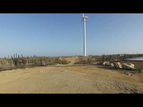 Aruba - Large Electric Wind Turbines on the Island of Aruba