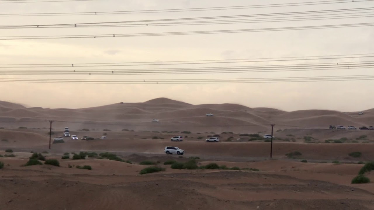 Cars in Desert just after Rain