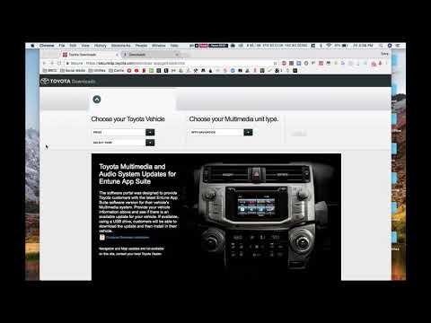 How To Upgrade Toyota Entune Software 5.2 (LATEST)