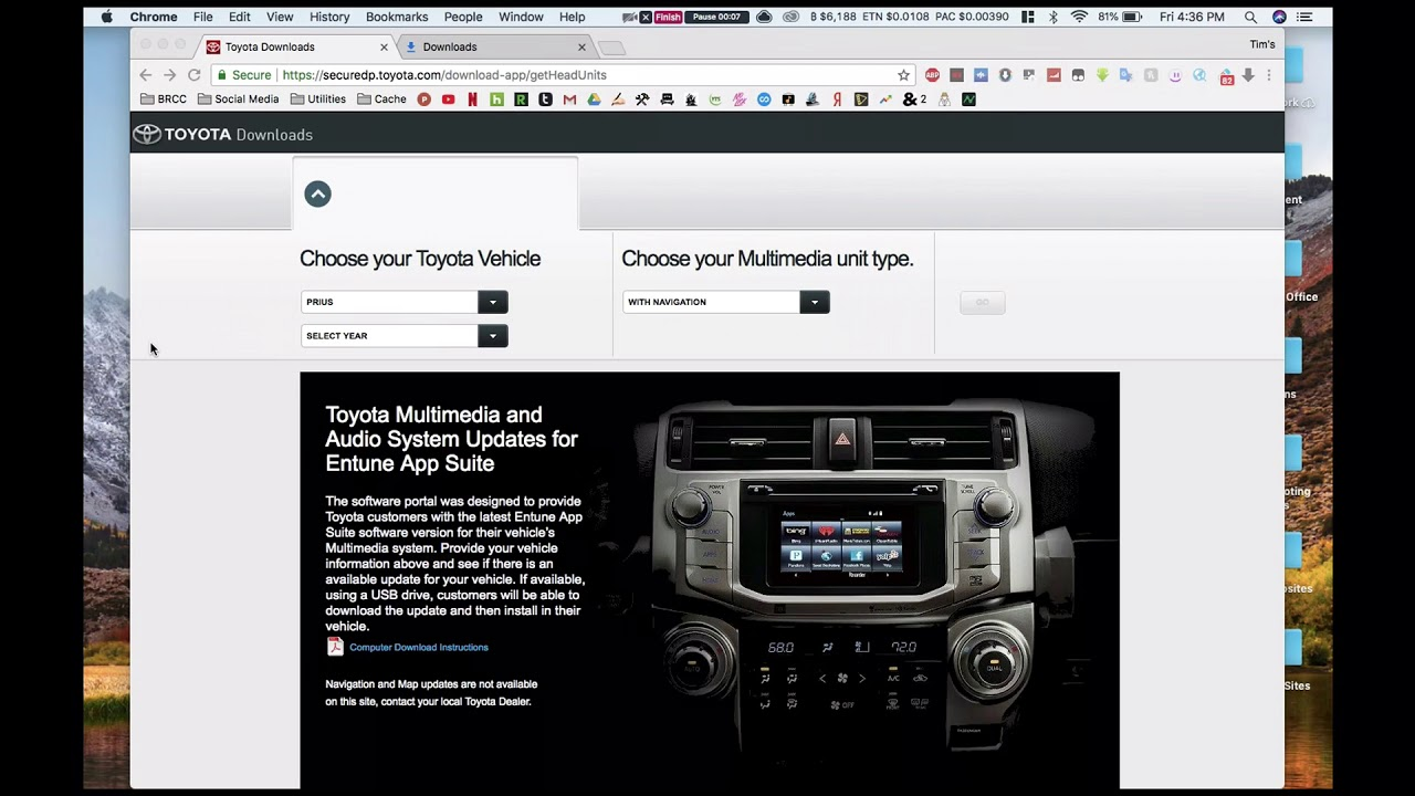 How To Upgrade Toyota Entune 5 2 Latest
