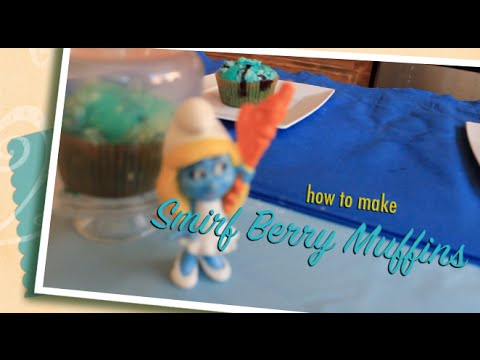 ✿‿✿ Cute Kids show you how to make Smirf Berry Muffins