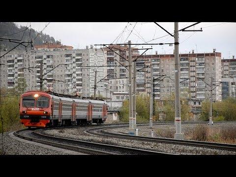 Электропоезд ЭД4М-0088 сообщением № 6055 Челябинск - Златоуст