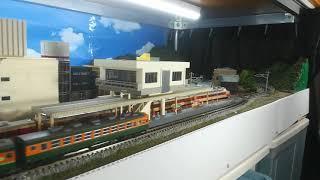 鉄道模型旧レイアウト(その4)通過待避