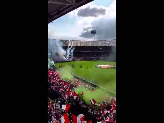 Feyenoord -Ajax 2014-2015 opkomst spelers