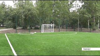 В сквере Химиков открыли детскую площадку для игры в дворовый футбол