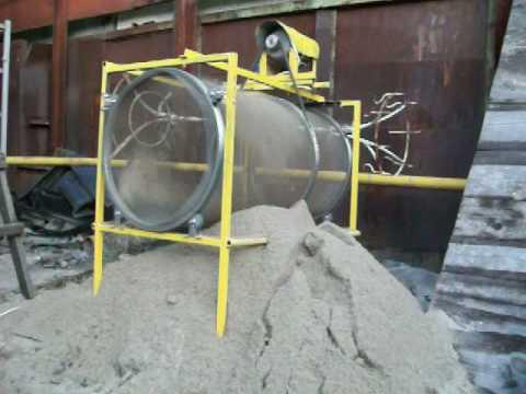 Барабанная сеялка для песка своими руками