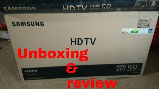 (Hindi) Samsung 24 inch 4003 LED T.V.  Unboxing and review video || Samsung  t.v. review | SHADOW OX