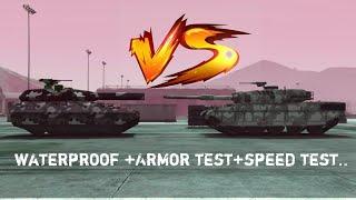 GTA online TM-02 Khanjali vs Rhino Tank