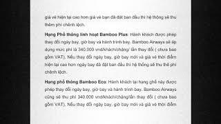 [etrip4u.com] Hướng dẫn đổi vé máy bay khứ hồi Bamboo Airways