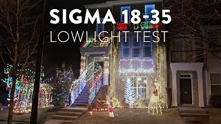 Sigma 18-35 and Pocket 6K Low Light Test | Christmas Lights | #vibes #shorts