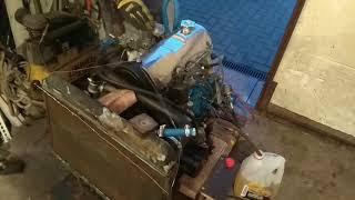 Работа Мотора ВАЗ 2105 на стенде  пробный пуск перед установкой на автомобиль