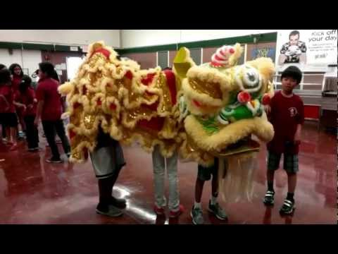 Having Fun with Lion Dance! @ Macy Intermediate School