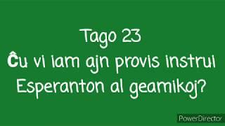 23a Tago – Ĉu vi iam ajn provis instrui Esperanton al geamikoj? #30DRYC