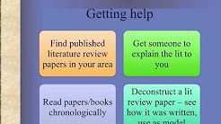 thesis dissertation lit literature review