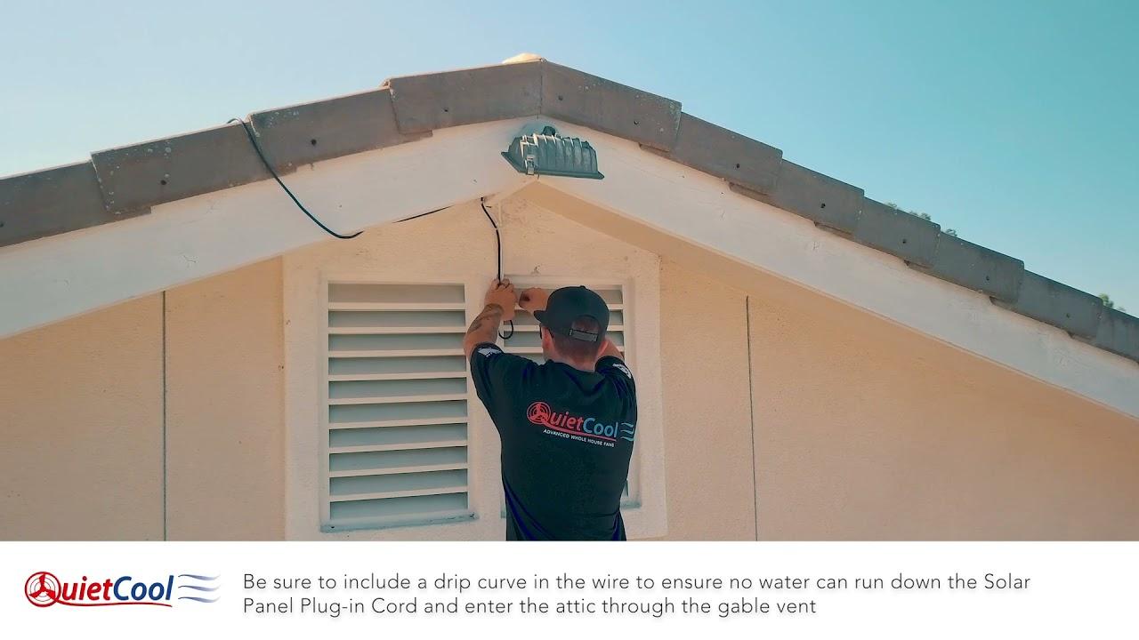 How To Install A Solar Attic Gable Fan