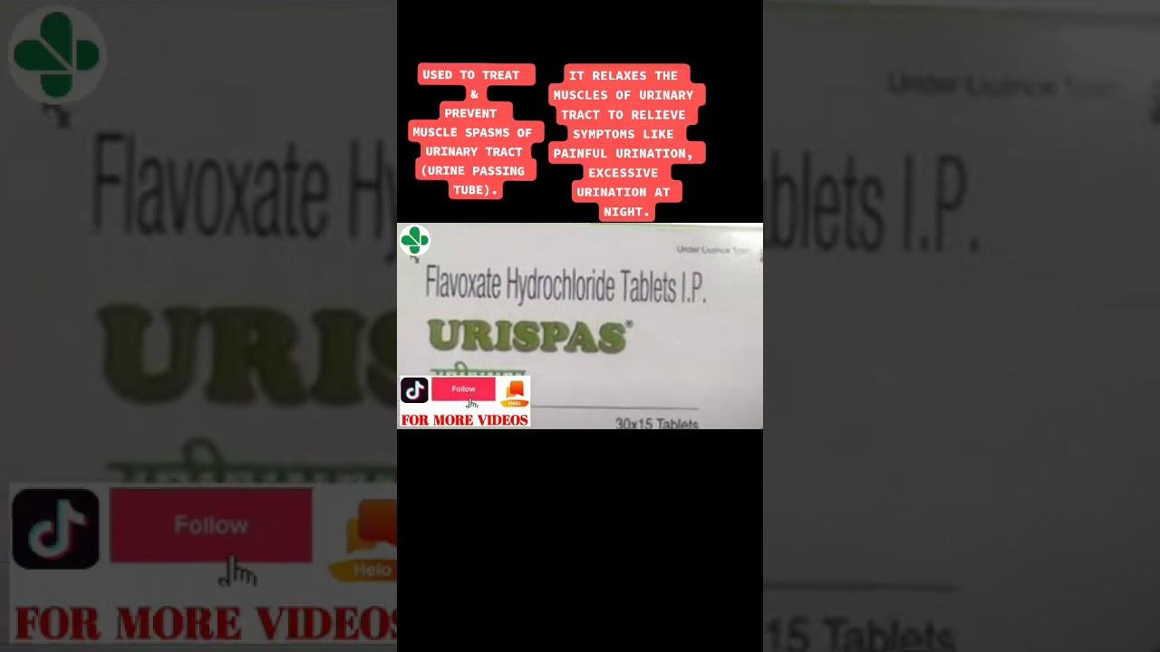 URISPAS TABLET USES - YouTube