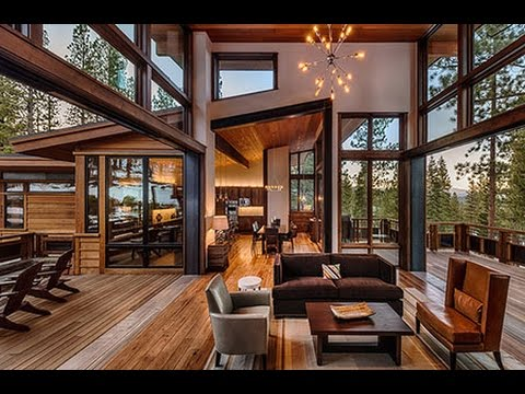 Mountain modern lodge by greenwood homes youtube for Modern rustic house designs