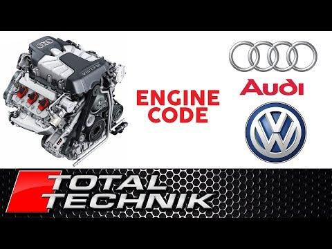 Where to Find Audi VW Volkswagen Engine Code - ALL MODELS - TOTAL TECHNIK