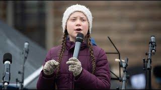 WELT-DOKUMENT: Hamburger Schüler demonstrieren mit Greta Thunberg