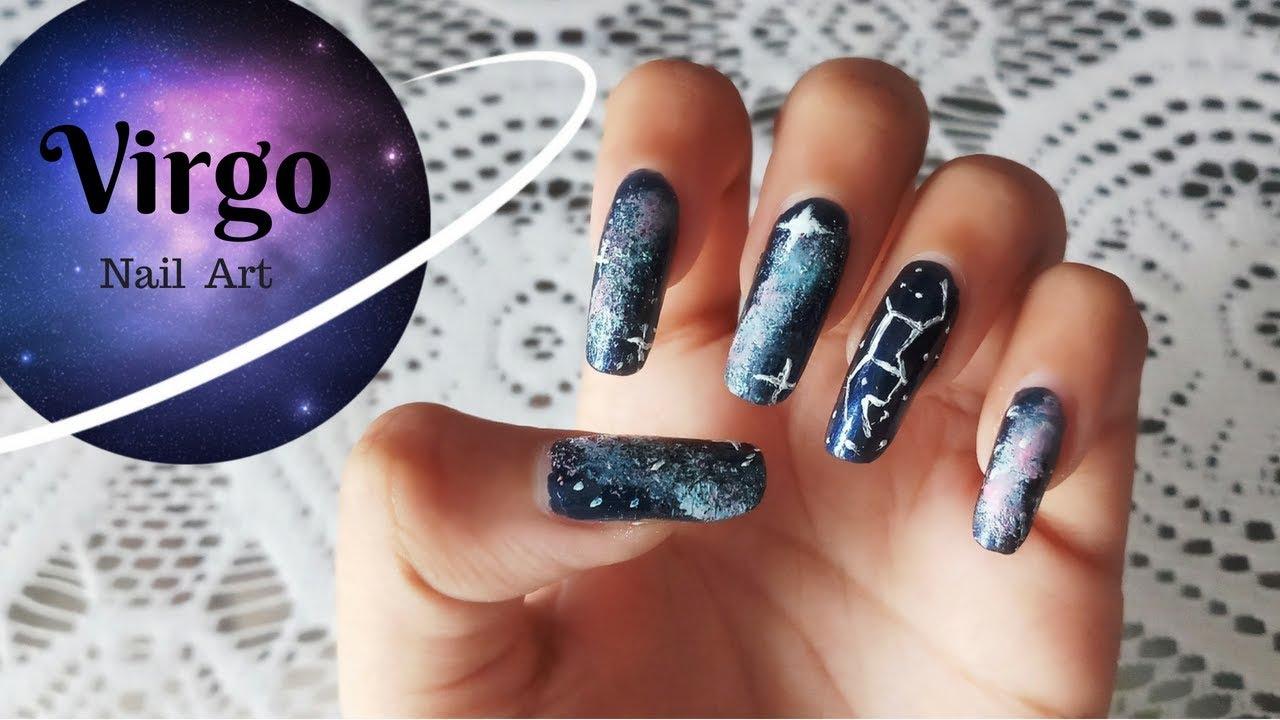 Virgo Constellation Nail Art Zodiac