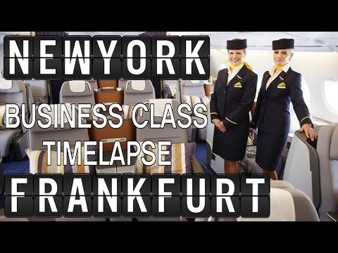 Lufthansa A380 Business Class Timelapse [8h] New York-Frankfurt [JFK-FRA]