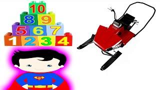 Učit Se Čísla Hračka Sníh Sáně Superman Hry Videa Děti