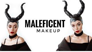 Макияж на Хэллоуин Трансформация в Малефисенту Maleficent makeup tutorial