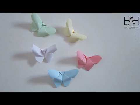 Easy diy 3D paper butterfly : Wall decor Idea for beginners