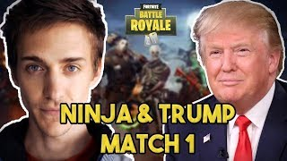 Ninja and Donald Trump Play Duos! Fortnite Battle Royale Gameplay!