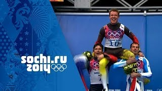 Men's Luge - Runs 3 and 4 - Felix Loch Wins Gold  | Sochi 2014 Winter Olympics