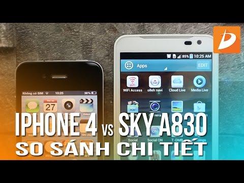 iPhone 4 và Sky A830 : Smartphone giá rẻ nào cho sinh viên?