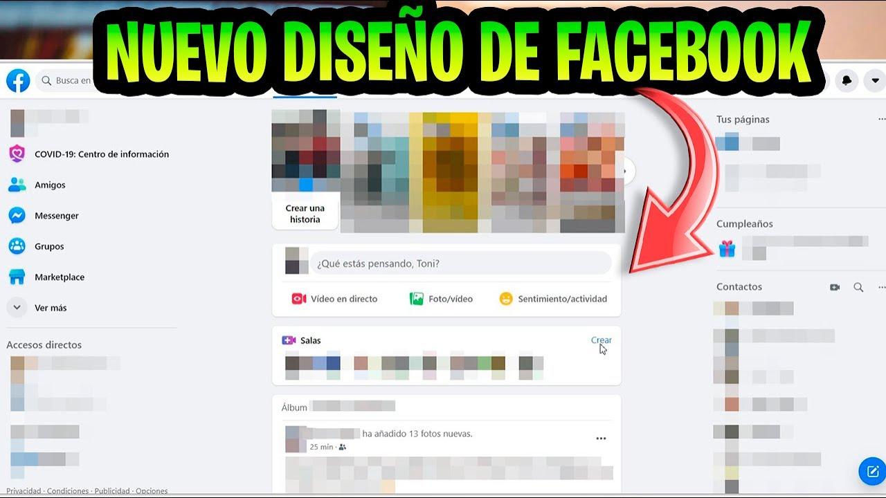 Liberado NUEVO DISEÑO de FACEBOOK en ESCRITORIO / Nueva Update de Windows 10