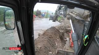 Flood accident / Flooding River / Volvo ECR 145 Help / CZ/EN