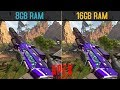 Apex Legends 8GB RAM VS 16GB RAM [Single Channel & Dual Channel] BENCHMARKS (GAMEPLAY )