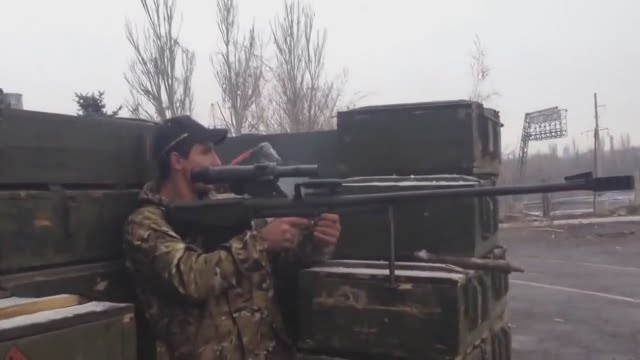 Ukraine War - Russian armed forces use newest counter-sniper ASVK rifle