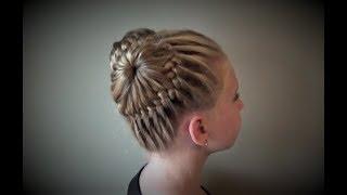 Причёска Две Корзинки. Peinado Double Baskets Buns Hairstyle