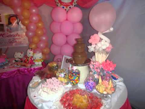 Cake Design For 7th Birthday Girl : Hershey s 7th Birthday - Hello Kitty Party Theme - YouTube