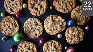 Cranberry Pistachio Oat Cookies | TwentyTwoPlates