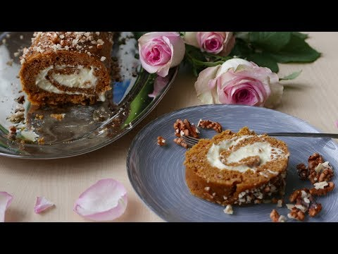 Gluten-Free Pumpkin Roll Cake with Cream Cheese