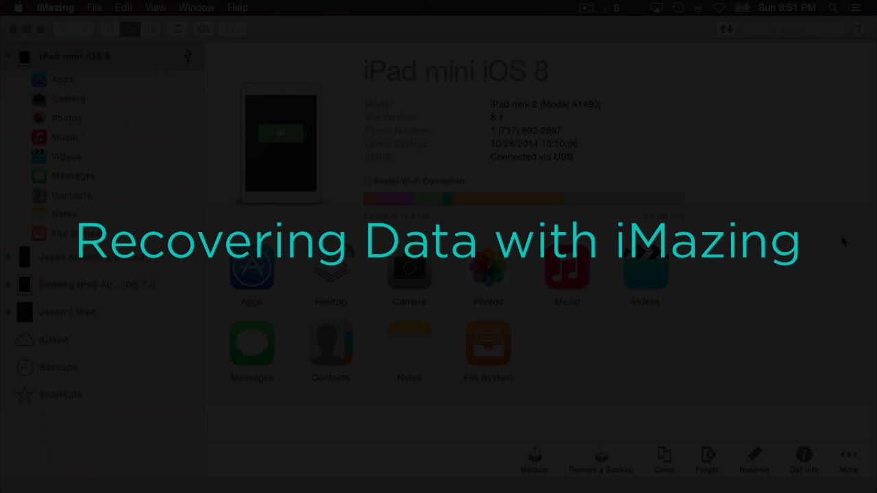 Recovering Data with iMazing