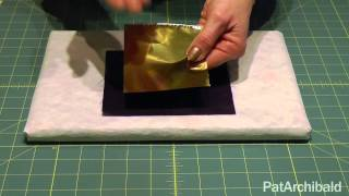 Textile Art Howto: Applying Foils with Bondaweb