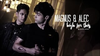 magnus alec   high for this   malec shadowhunters