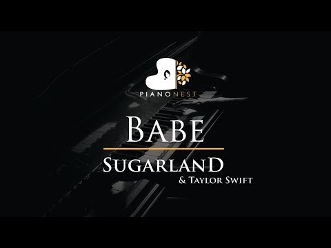 Sugarland - Babe ft. Taylor Swift - Piano Karaoke / Sing Along / Cover with Lyrics