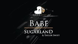 Sugarland - Babe ft. Taylor Swift - Piano Karaoke / Sing Along / Cover with Lyrics Video